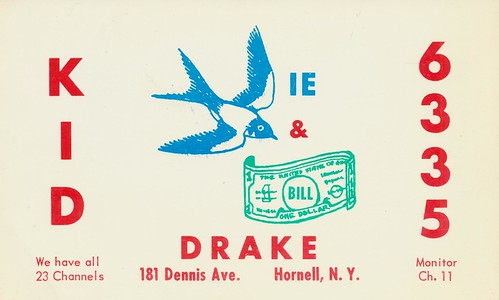 Birdie & Bill Drake - Hornell, New York | by The Cardboard America Archives
