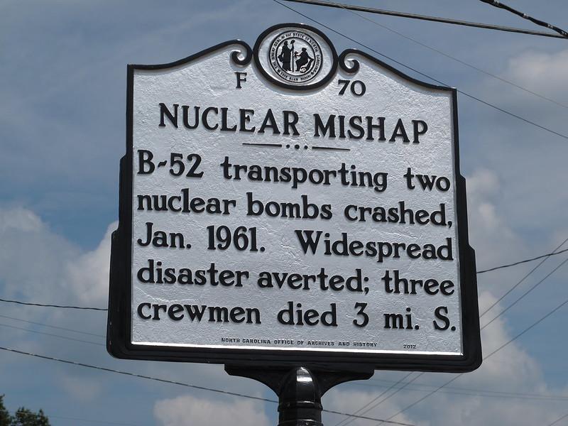 Goldsboro Broken Arrow Roadside Marker. Photo: Kelly Michals (Flickr).