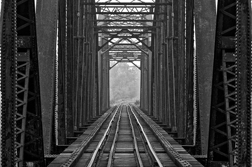 international railroad bridge, sault ste. marie, ontario | by twurdemann