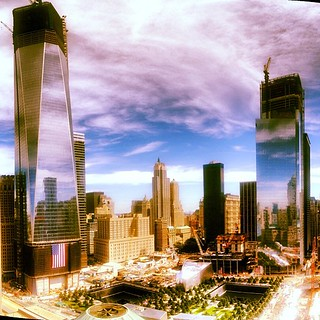 The view of Ground Zero out my apartment window on 9/11/12. | by fimoculous