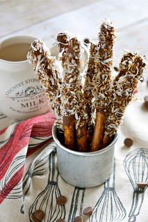 Caramel and coconut chocolate covered pretzels 001 | by Hungry Housewife