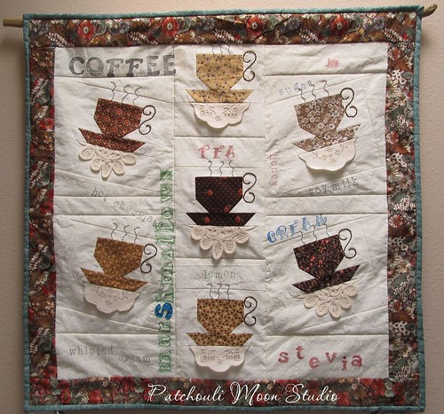 Teacup Or Coffee Quilt | I made this quilt with a doily ...