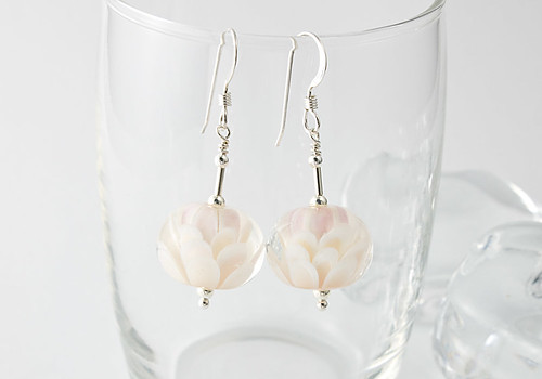 Natural Dahlia Earrings | by Ciel Creations