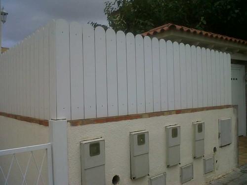 valla de pvc blanco montaje de valla de uso residencial