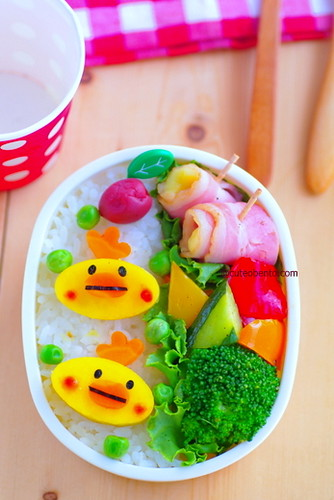 Sweet potato chickens bento | by luckysundae