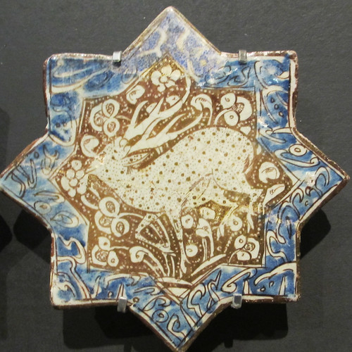 Islamic tile with deer - 8 points, square | by Monceau