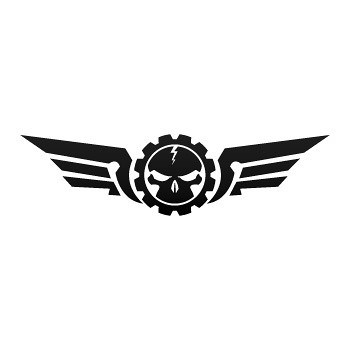 ... Stickers factory decal Skull with military wings 06707 | by Stickers -Factory