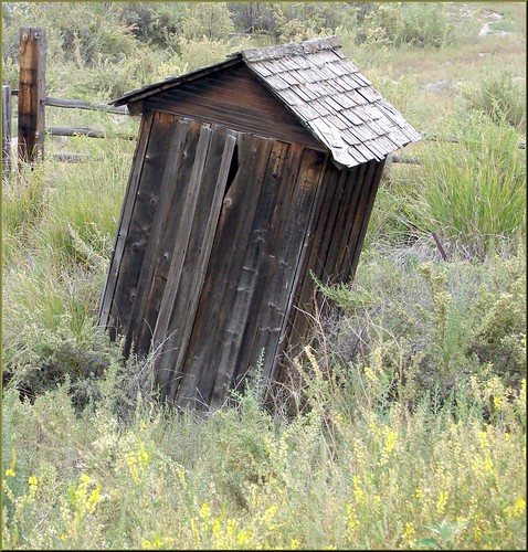 Leaning Outhouse of Kremmling, Reeder Creek Ranch, CO 8-26-12 | by inkknife_2000 (9.5 million views)