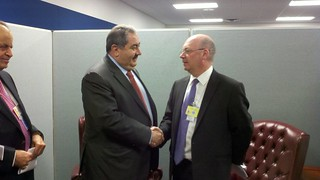 UK Minister Alistair Burt with Mr Hoshyar Zebari, Iraqi Minister of Foreign Affairs, at the UN General Assembly | by UKUnitedNations