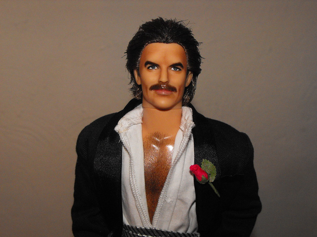 Tom selleck magnum p i ooak re paint ken collector doll flickr