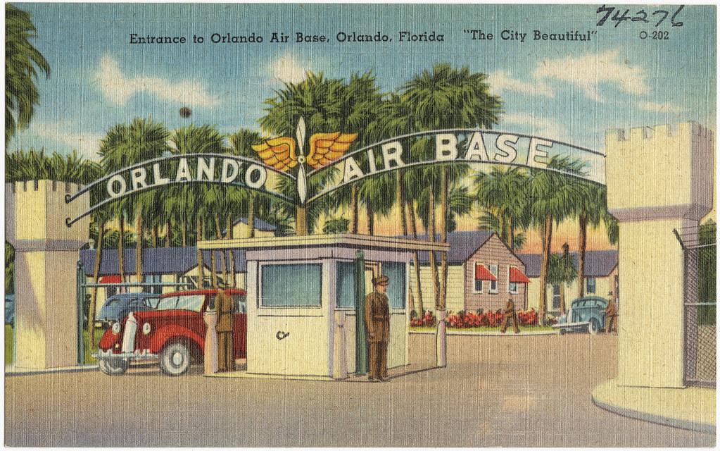 entrance to orlando air base orlando florida 39 the city flickr. Black Bedroom Furniture Sets. Home Design Ideas