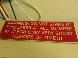 laser cutter warning sign | by Liz Henry