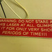 laser cutter warning sign