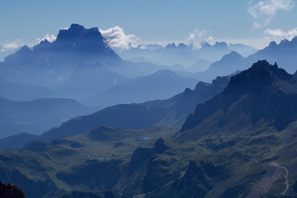 Panorama Dal Sass Pordoi Il Monte Pelmo Gruppo Del Sel Flickr