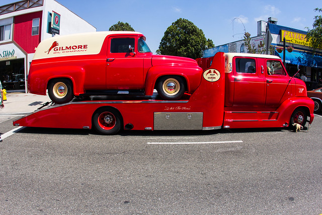 1953 Ford Cab Over Engine (COE) Crew Cab Hauler with 1956 Ford F-100