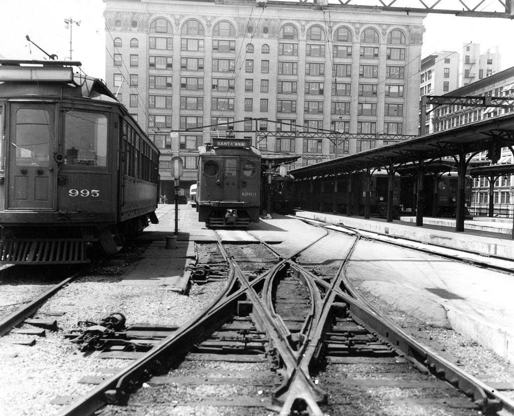 Air Line Franchise Car And Santa Ana Car At 6th And Main S