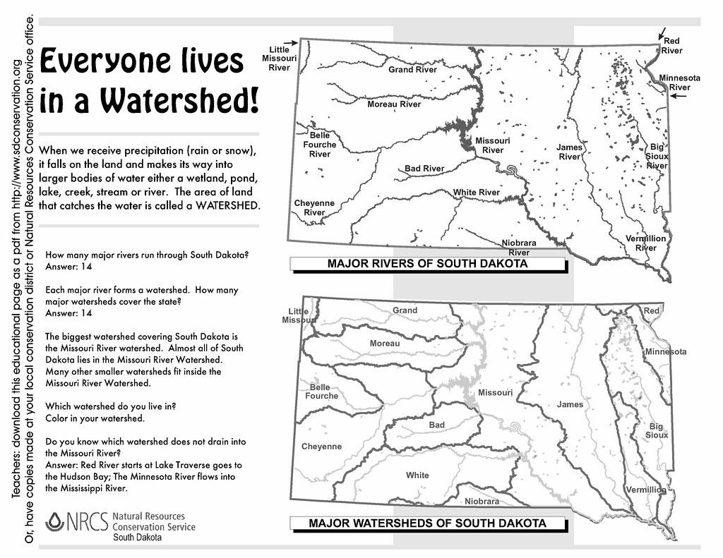 south dakota watersheds worksheet  answers