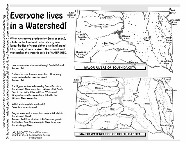 Conservation Education – Watershed Worksheet