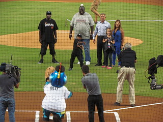 A High Ceremonial First Pitch at Marlins Park -- Miami, FL, September 1, 2012 | by baseballoogie