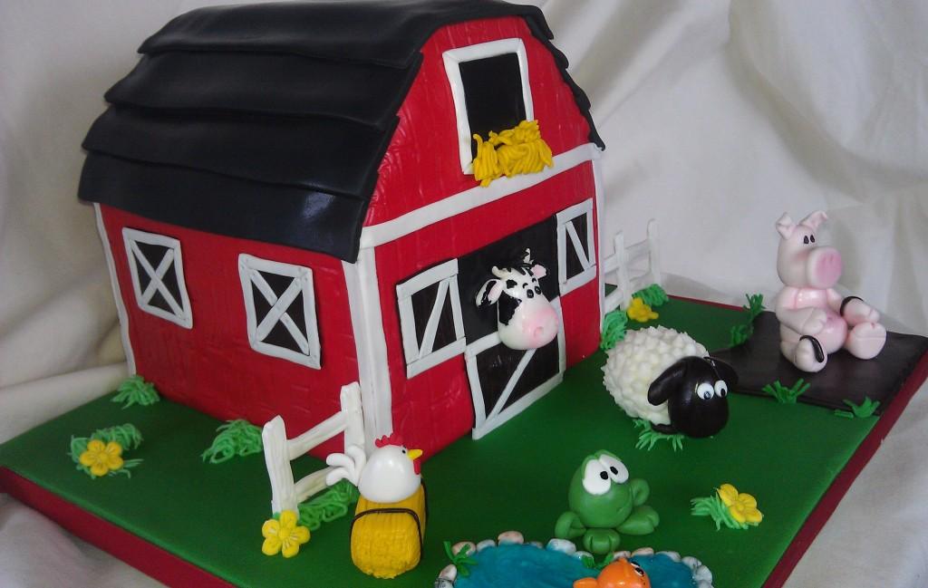 Barn Cake 6 Quot Barn Cake W Animals All Fondant Mick