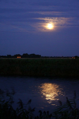 Fen Drain by moonlight | by Sarah Nice