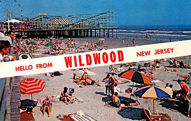 Wildwood New Jersey Vintage Postcard Could This Be The Flickr