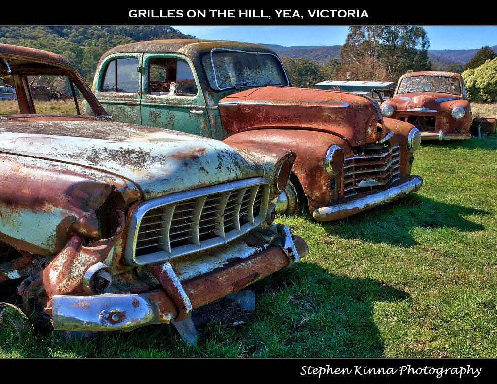 Grilles on the Hill | Abandoned Holden FE Sedan with a Vauxh… | Flickr