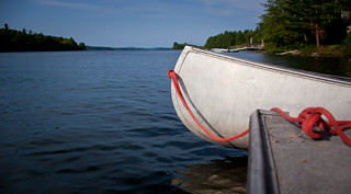 Canoe in Lake Cobbosseecontee, Maine | by ChrisGoldNY
