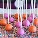 Cake Pops in Wonka Colors in Sprinkles
