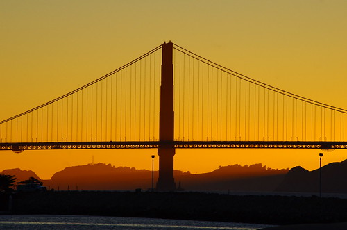 San Francisco, the Golden Gate Bridge at Sunset from the Marina 18 | by paspog