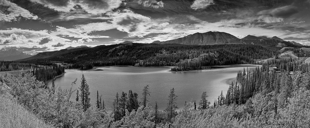 Emerald Lake in Black and White
