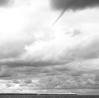 Waterspout moves across the Manitou Passage in the Sleeping Bear Dunes National Lakeshore | by farlane