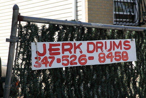 """Jerk drums,"" Jamaica, Queens 