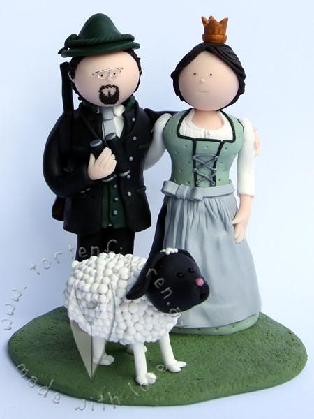 Trachten Brautpaar Mit Schaf Tortenfiguren Flickr
