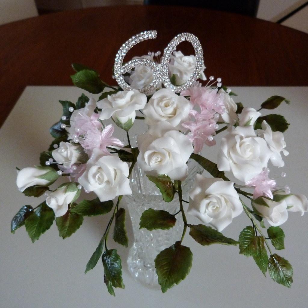 60th anniversary sugar flowers 024 making 60th wedding ann flickr. Black Bedroom Furniture Sets. Home Design Ideas
