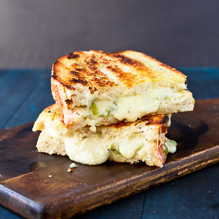 Grilled Hatch Chile Pimento Cheese Sandwiches | by TheBrewer&TheBaker