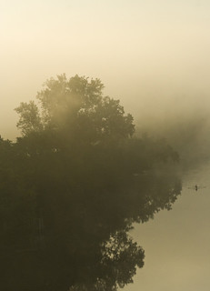 Lone rower on the foggy James | by Light Orchard