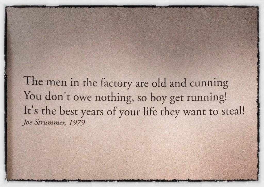Image result for joe strummer quotes