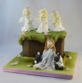 Jesus, Sheep and angel cake | by ♥Dot Klerck....♥