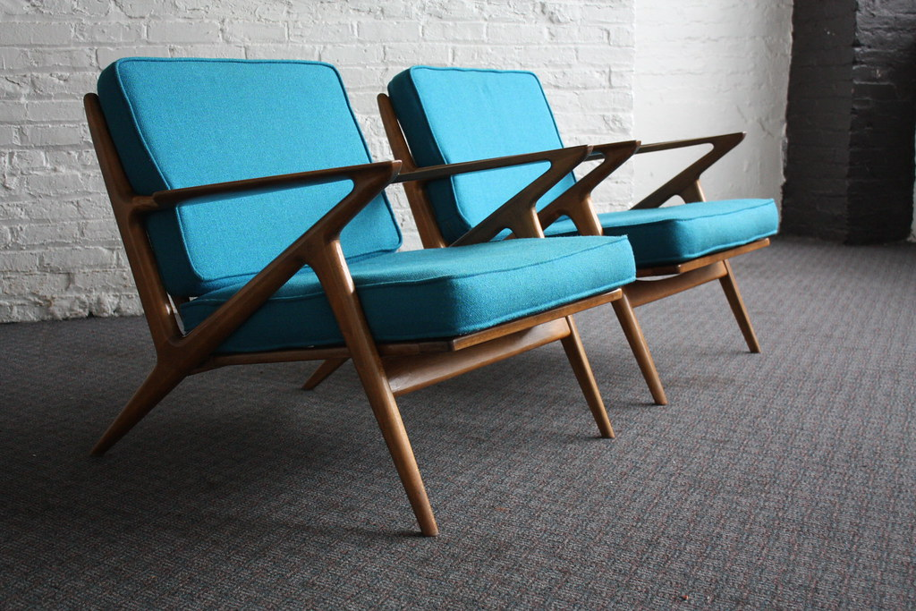 Brilliant danish mid century modern poul jensen z chairs f for Z chair mid century