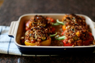 Stuffed Peppers with Farro & Summer Squash | by kristin :: thekitchensink