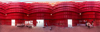 """Bank of UnAmerica"" panorama from""Burn Wall Street""  installation at Burning Man 2012 