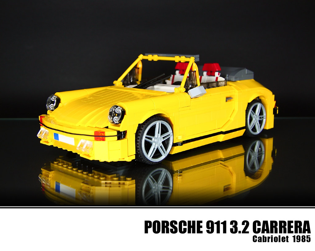 lego porsche 911 3 2 carrera cabriolet 1985 with the 911. Black Bedroom Furniture Sets. Home Design Ideas