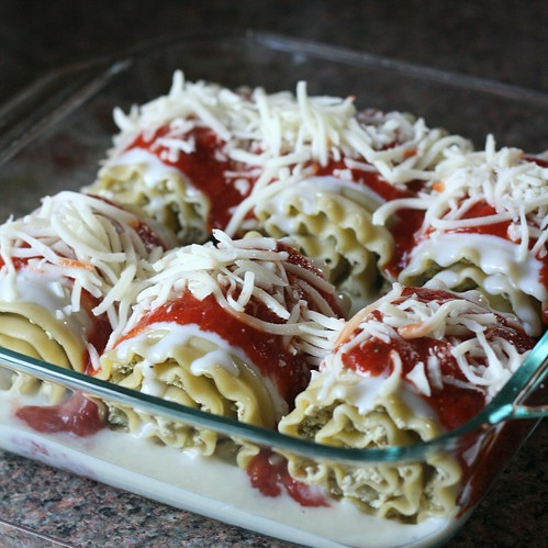 Chicken Pesto Lasagna Rolls | by Tracey's Culinary Adventures