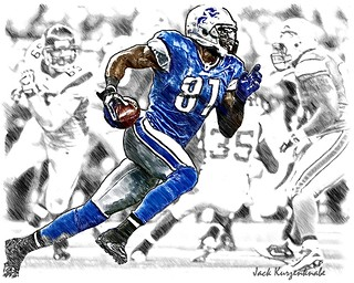 Detroit Lions Calvin Johnson | by Jack Kurzenknabe