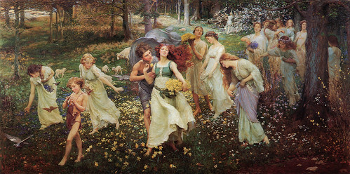"Charles Daniel Ward (British,1872-1935), ""The Progress of Spring"", 1905 