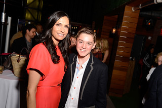 "Famke Janssen and Spencer List at the NYC Premiere of ""Bringing Up Bobby"" 