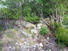 Chemin de la Montagne aux Plages : vestiges de la bergerie de Strascinedda