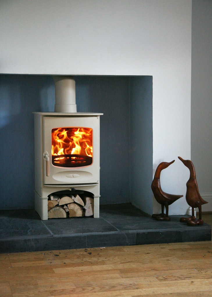 Charnwood C Four Wood Burning Stove Almond With A Store