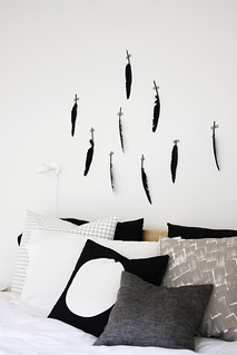 feathers on my wall | by AMM blog